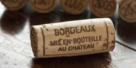 Bordeaux wine cork